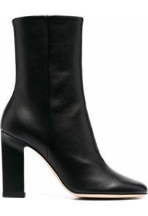Wandler Ankle Boot Com Salto Bloco - Preto