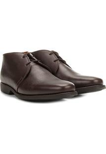 Sapato Social Couro Richards Relax New Masculino - Masculino-Marrom