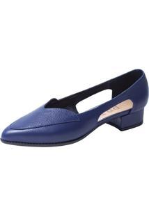 Sapato Pri Gonçalves Em Couro Azul Marinho - Kanui