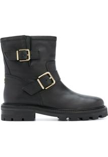 Jimmy Choo Ankle Boot Com Fivela Youth - Preto