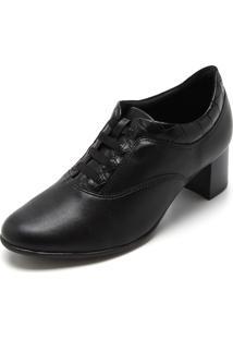 Ankle Boot Comfortflex Liso Preta