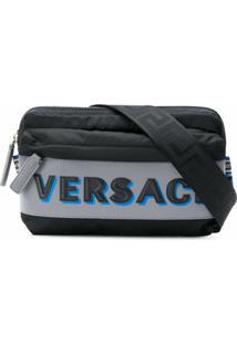 Versace Pochete Com Logo Gravado - Preto