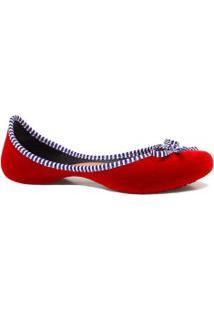 Sapatilha Zariff Shoes Curvada Laço Veludo