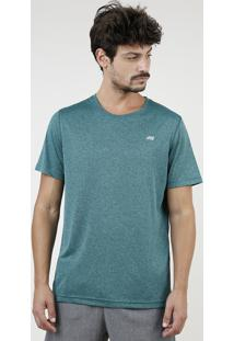 Camiseta Masculina Esportiva Ace Manga Curta Gola Redonda Verde Água