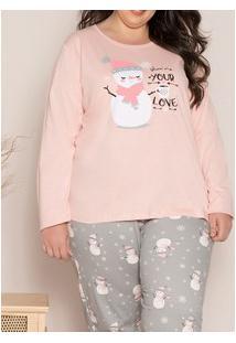 Pijama Longo Cachorrinho Pzama (90019) Plus Size