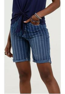 Bermuda Feminina Jeans Listrada Marisa