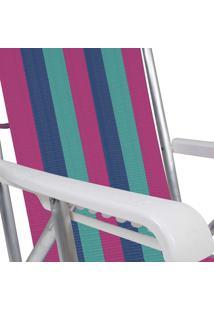 Cadeira Reclinável Alumínio 8 Posições 2232 Mor