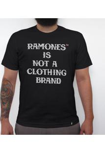 Ramones Is Not A Clothing Brand - Camiseta Clássica Masculina
