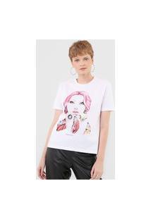 Camiseta Planet Girls Estampada Branca