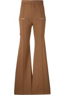Chloé Flared Trousers - Marrom