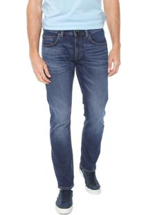 Calça Jeans Tommy Hilfiger Reta Denton Str Azul