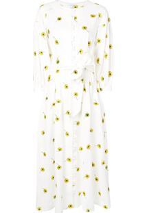 Olivia Rubin Vestido Com Estampa De Margarida - Branco