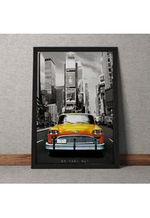Quadro Decorativo Taxi Vintage Nova York 35X25