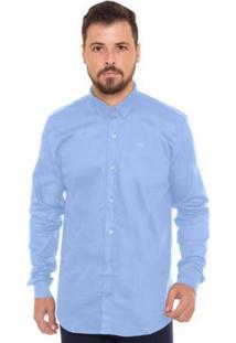 Camisa Z-32 Manga Longa Masculina - Masculino-Azul