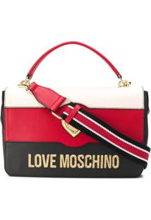 Love Moschino Logo Colour-Block Tote - Preto