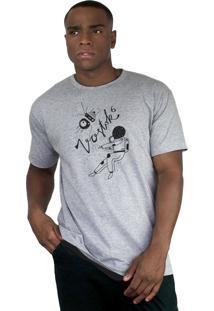Camiseta Bleed American Vostok Cinza Mescla