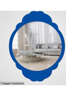 Espelho Retro- Espelhado & Azul- 35X27,5X5Cm- Cicia Laser