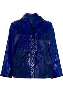 Aspesi Jaqueta Translúcida - Azul