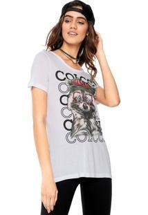 Camiseta Colcci Estampada Branco