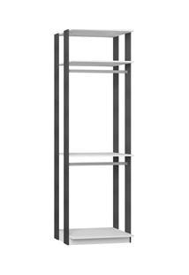 Guarda Roupa Closet Clothes 1005 3 Prateleiras Branco/Espresso - Be Mo