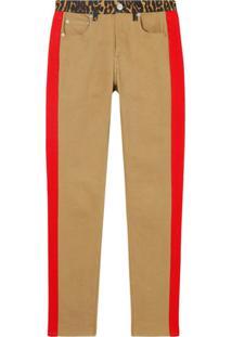 Burberry Calça Jeans Skinny Com Detalhe Estampa De Leopardo - Neutro