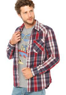 Camisa Levis Xadrez Azul/Vermelho