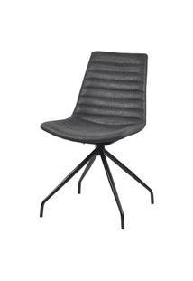 Cadeira Dini Corino Preta Com Base Giratoria Preta - 58176 Preto