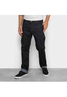Calça Jeans Reta Diesel Buster Trousers Masculina - Masculino-Preto