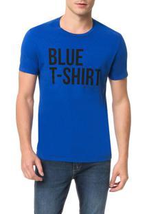 Camiseta Calvin Klein Jeans Estampa White T-Shirt Azul Carbono - Gg