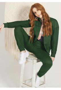 Conjunto Adulto Com Jaqueta E Calça Verde