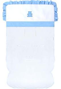Capa De Carrinho Padroeira Baby Realeza Azul