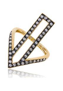 Anel Totem Diamante Amarelo C/ Bri Ttlb - 17