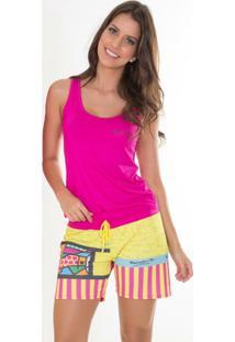 Pijama Regata Viscose Recco 08621 - Feminino