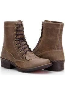 Bota Country Capelli Boots Em Couro Com Amarração Masculino - Masculino-Marrom