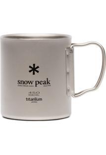 Snow Peak Caneca Ti-Double 450 Com Logo - Metálico