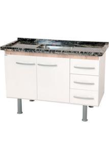 Gabinete De Cozinha Sonic 98,4X55Cm Branco E Madeirado Bonatto