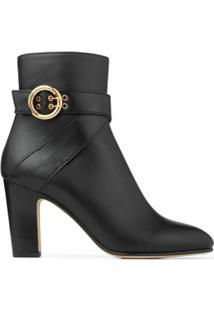 Jimmy Choo Ankle Boot Blanka Com Salto 85Mm - Preto