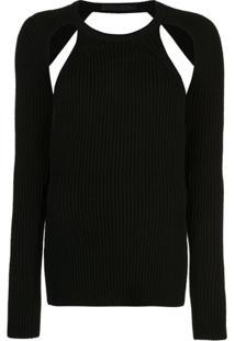 Proenza Schouler Blusa Decote Careca De Tricô - Preto