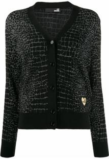 Love Moschino Cardigan Love - Preto