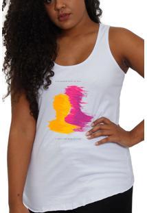 Camiseta Regata Fanzoca Branco Projota Linda - Feminino