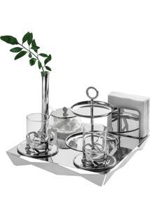 Bandeja Chá E Café Origami Inox - Riva