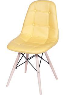 Cadeira Eames Eifeel Botone Amarelo Or Design