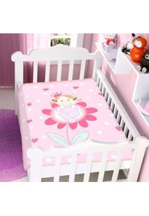 Cobertor Infantil Jolitex Raschel Princesinha Na Flor Feminino - Kanui