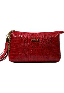 Bolsa Em Couro Recuo Fashion Bag Transversal Cereja