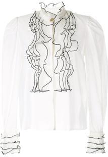 Aje Blusa Com Bordado - Branco
