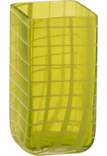 Vaso De Vidro Decorativo Green Pequeno