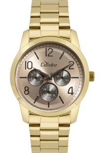 Relógio Analógico Condor Feminino - Co6P29Ii4J Dourado - Único