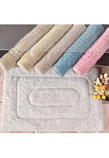 Tapete 100% Algodão Antiderrapante Tessi Banheiro 40Cm X 60Cm - Rosa