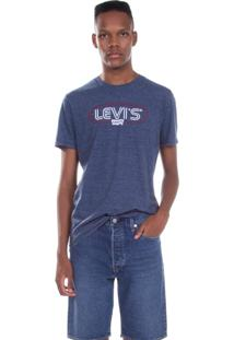 Camiseta Levis Masculina Logo Circle Azul Azul