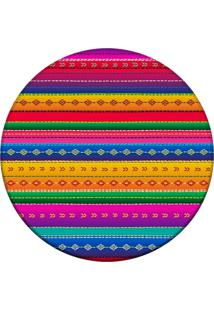 Tapete Love Decor Redondo Wevans Mexican Color Multicolorido 84Cm